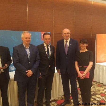 Prezentacja Pani Dyrektor Maliszewskiej podczas seminarium biznesowego w Pekinie