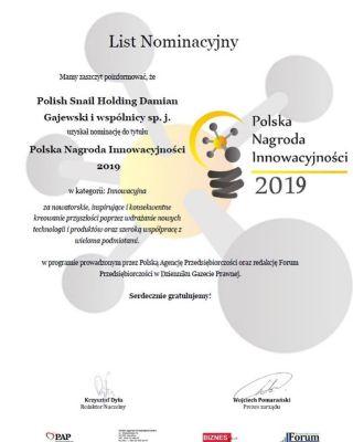 PSH z nominacją do Polskiej Nagrody Innowacyjności