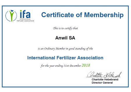 ANWIL członkiem IFA