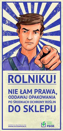 Jan Rolnik przypomina o obowiązku zwracania opakowań do sklepów