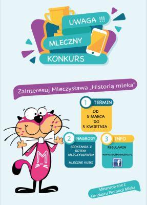 """Weź udział w konkursie """"Historia mleka"""" i wygraj odwiedziny kota Mleczysława"""