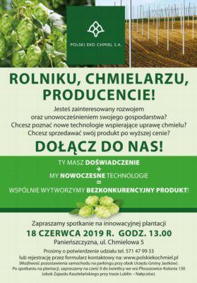 Chmielarze i browarnicy w Panieńszczyźnie k. Lublina już 18 czerwca