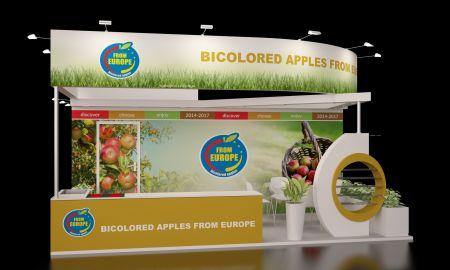 Stoisko promocyjne Europejskie Jabłka Dwukolorowe