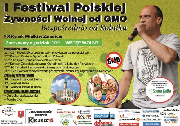 ZAPROSZENIE – Paweł Kukiz w Zamościu – I Festiwal Polskiej Żywności 9.10.2016