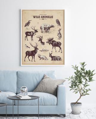 Plakaty ze zwierzętami – dekoracja wnętrza, która Cię zachwyci