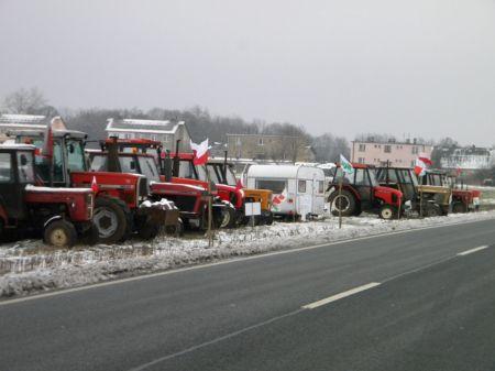Protest Rolników w Pławinku