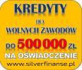 Kredyt na OŚWIADCZENIE dla WOLNYCH ZAWODÓW!!!