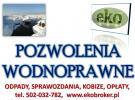 Pozwolenie wodnoprawne, tel. 502-032-782, operat wodnoprawny,cena.  Wykonanie operatu wodnoprawnego