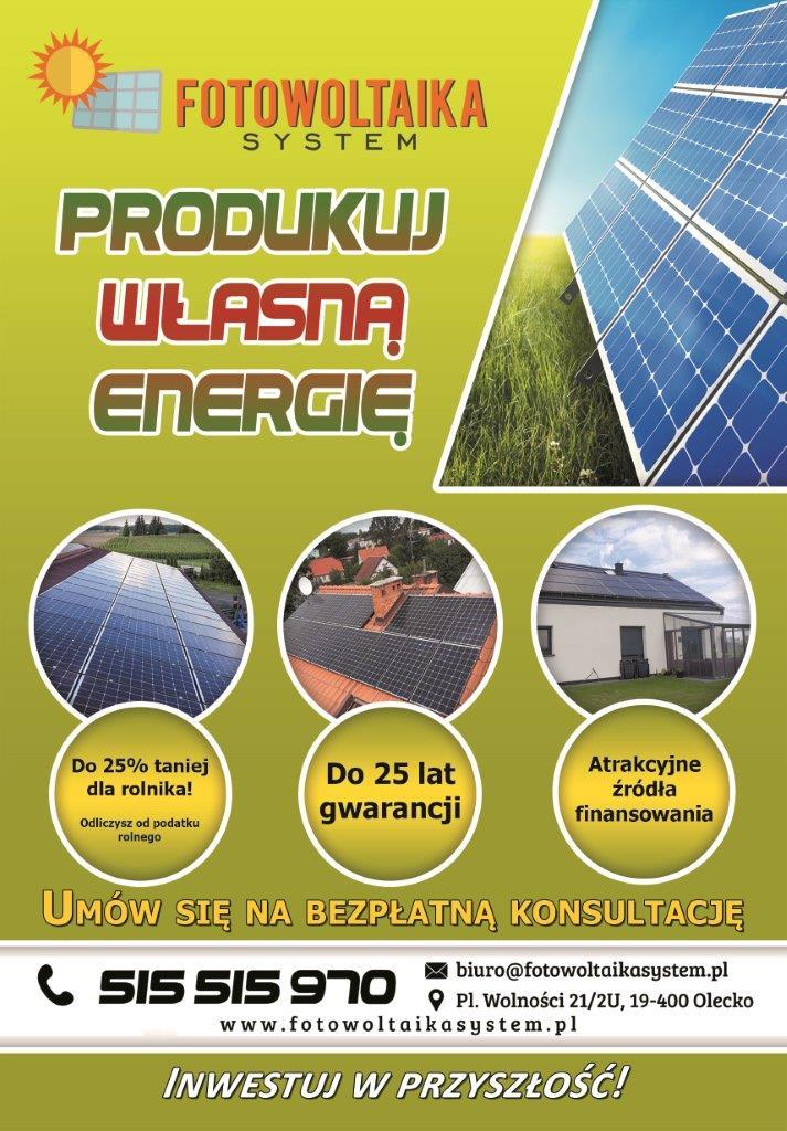 FOTOWOLTAIKA SYSTEM, Bądź niezależny,produkuj własną energię