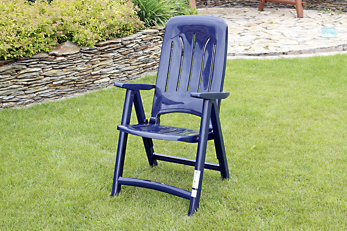 Solidny Plastikowy Fotel Ogrodowy Z Regulacją 5 Pozycyjny