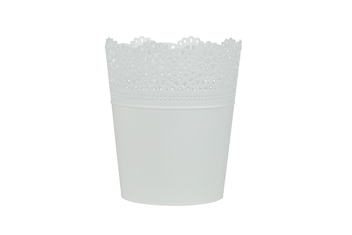 Doniczka Ażurowa Lace Dlac115 S449 Osłonka Biały Biały